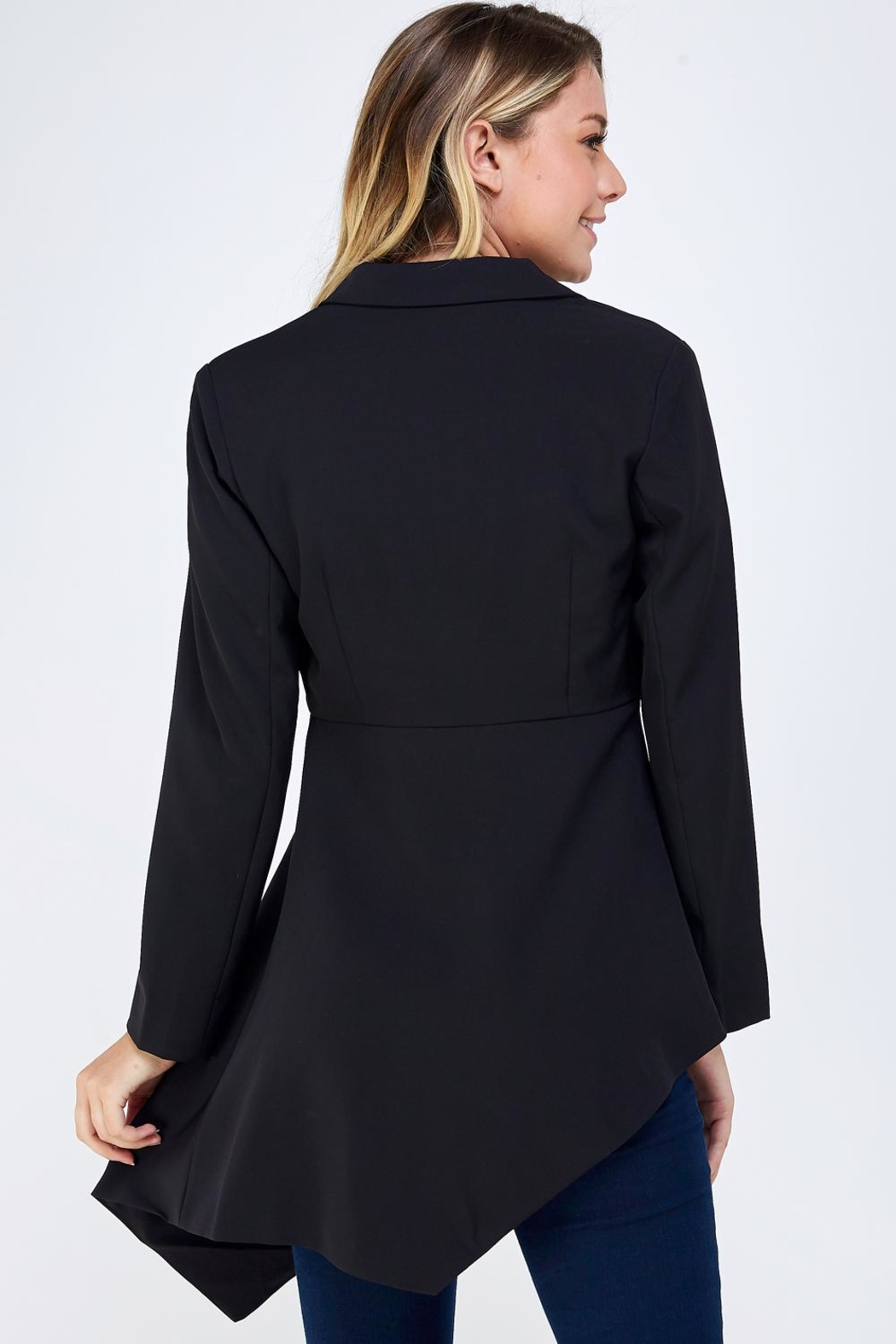 On Twelfth Fitted Asymmetrical Blazer - Back Cropped Image