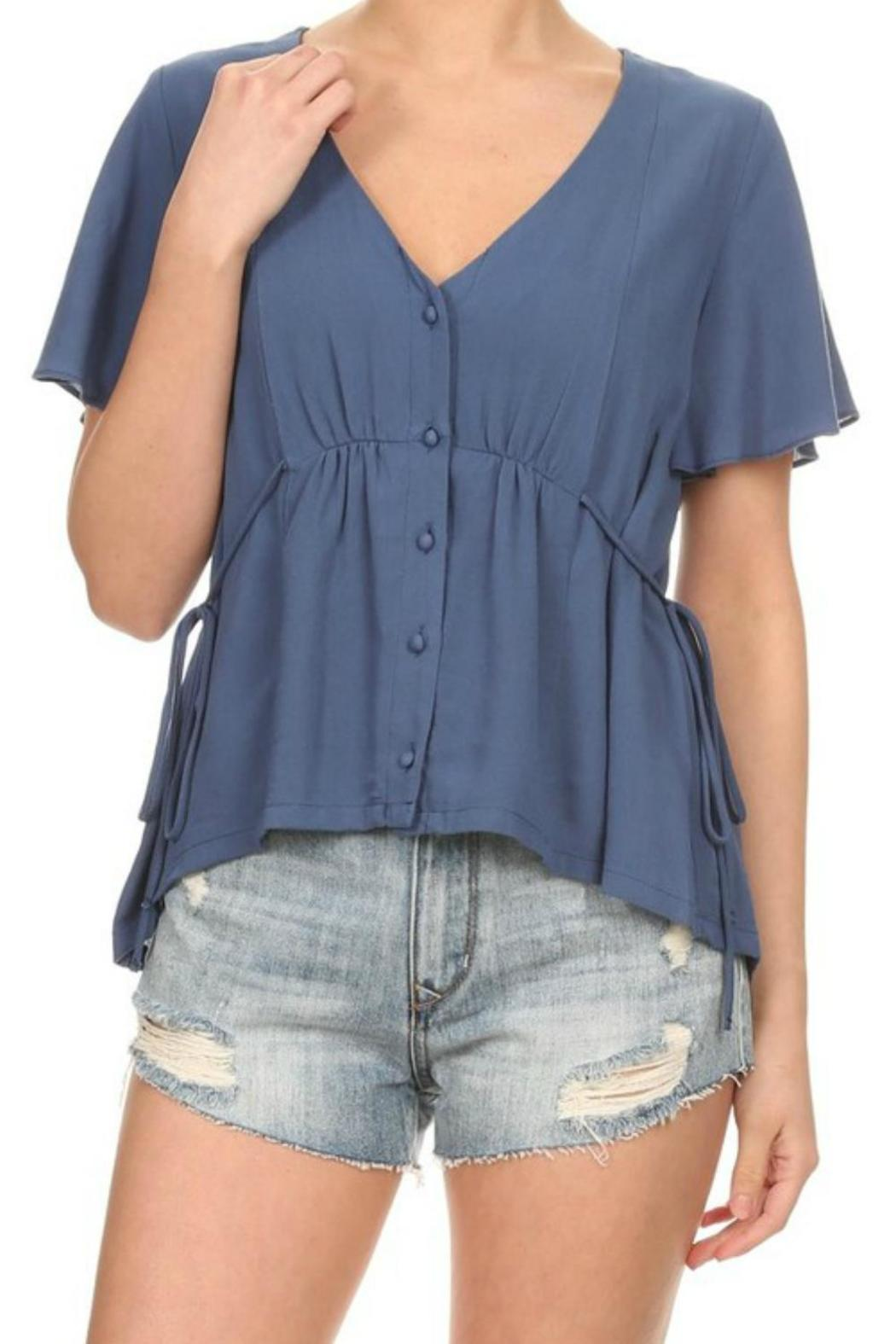 On Twelfth Flutter Sleeve Top - Front Cropped Image