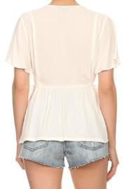 On Twelfth Flutter Sleeve Top - Back cropped