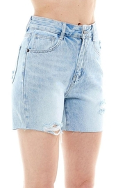 On Twelfth High Rise Rigid Distressed Shorts - Product Mini Image