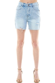 On Twelfth High Rise Rigid Distressed Shorts - Side cropped