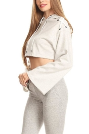 On Twelfth Lace Up Crop Hoodie - Other