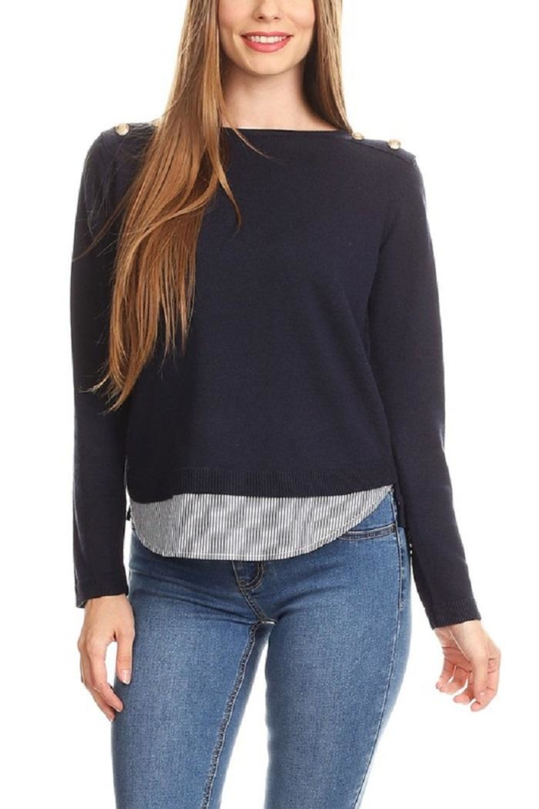 On Twelfth Layered Sweater Shirt - Front Cropped Image