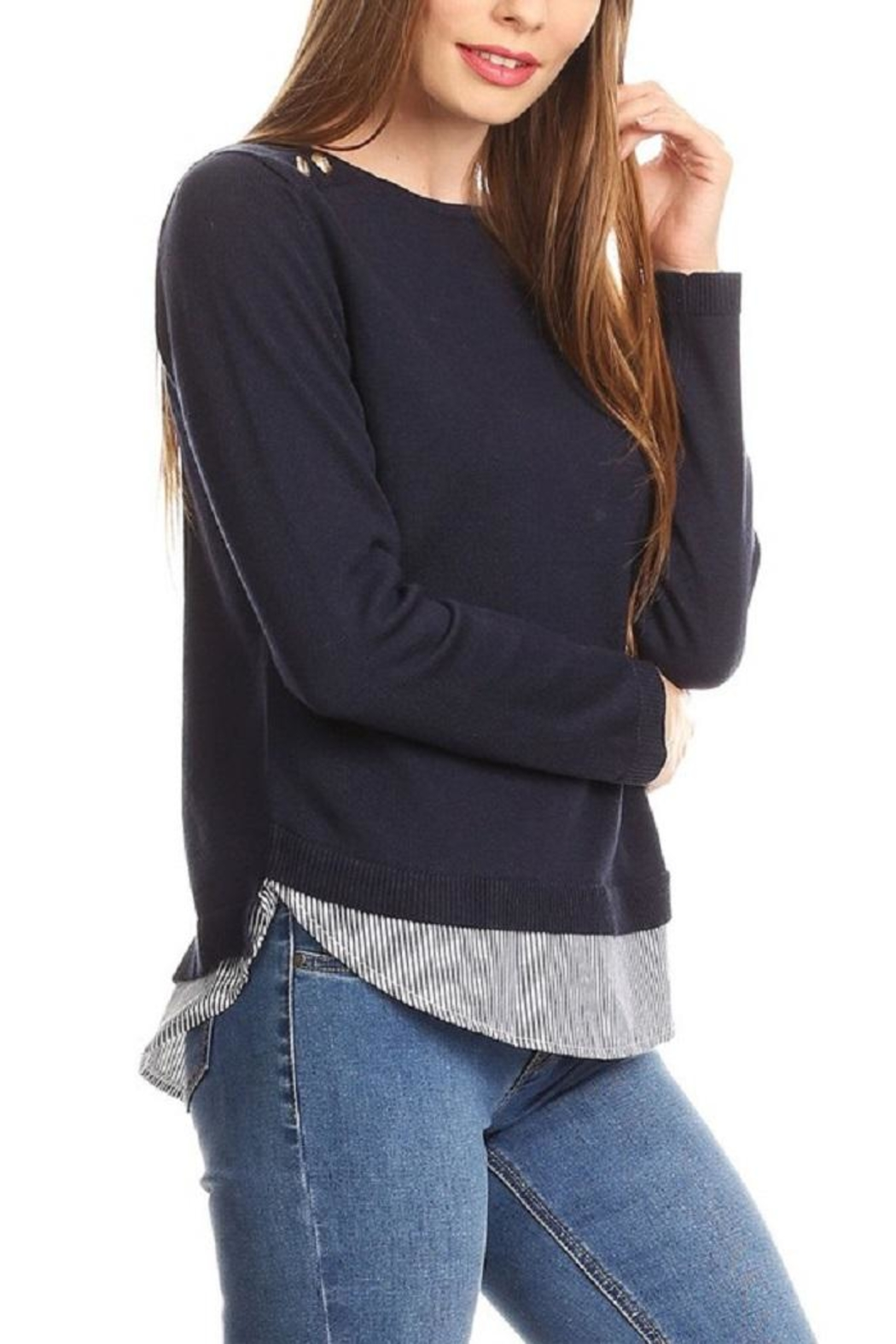 On Twelfth Layered Sweater Shirt - Side Cropped Image