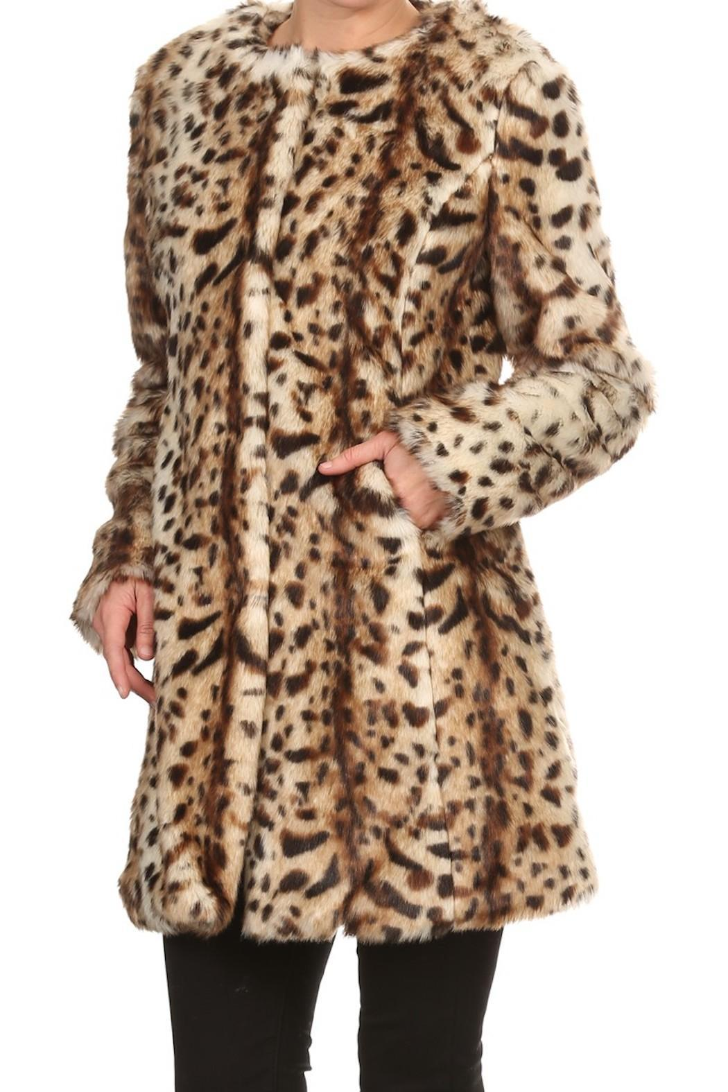 On Twelfth Leopard Faux Fur Coat - Front Cropped Image