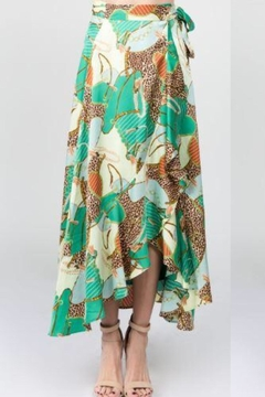 On Twelfth Leopard Wrap Skirt - Product List Image