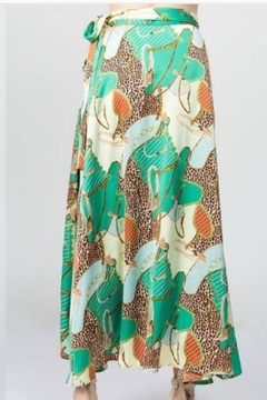 On Twelfth Leopard Wrap Skirt - Alternate List Image