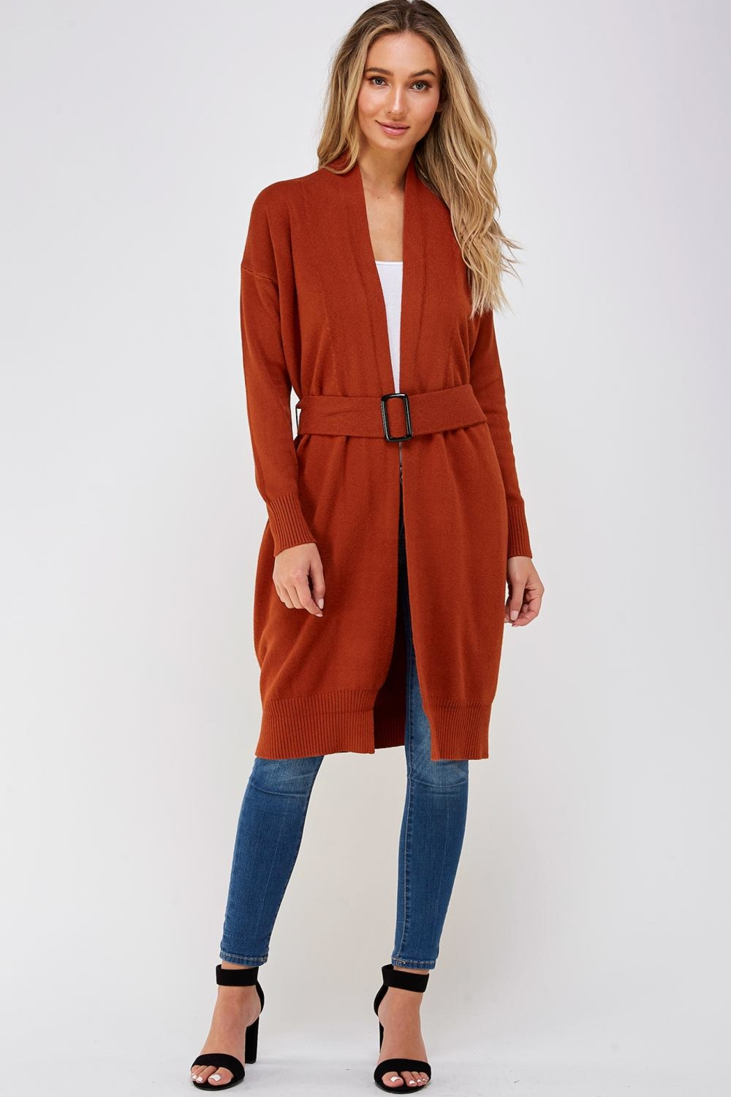 On Twelfth Long Belted Cardigan - Main Image