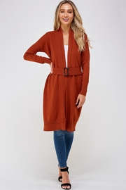 On Twelfth Long Belted Cardigan - Front full body