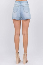 On Twelfth Rhinestone Denim Shorts - Side cropped