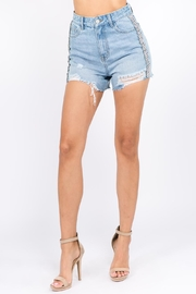 On Twelfth Rhinestone Detail Shorts - Product Mini Image