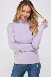 On Twelfth Ruffle Mock-Neck Sweater - Front cropped