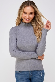 On Twelfth Ruffle Neck Sweater - Front cropped