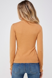 On Twelfth Ruffle Neck Sweater - Back cropped