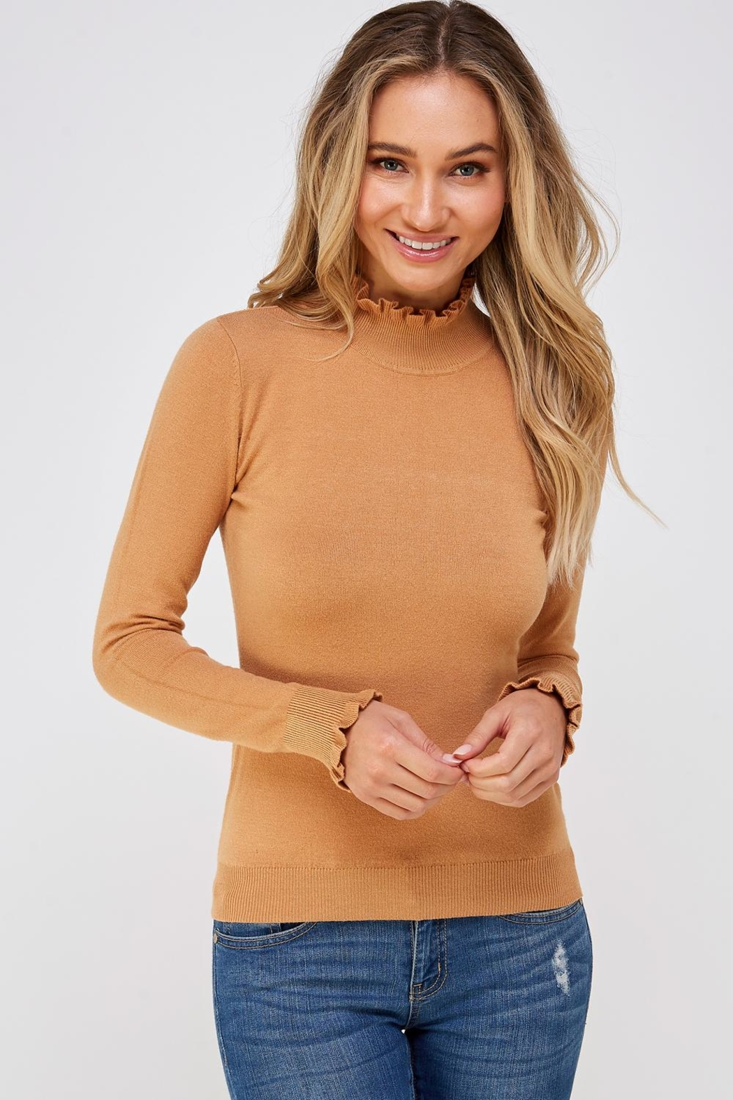 On Twelfth Ruffle Neck Sweater - Main Image