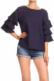 On Twelfth Ruffle Pleat Top - Product Mini Image