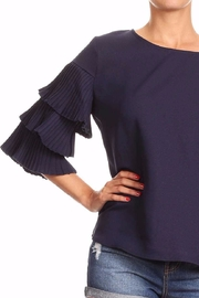 On Twelfth Ruffle Pleat Top - Front full body