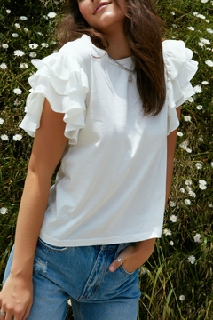 On Twelfth Ruffle Sleeve T-Shirt - Product List Image