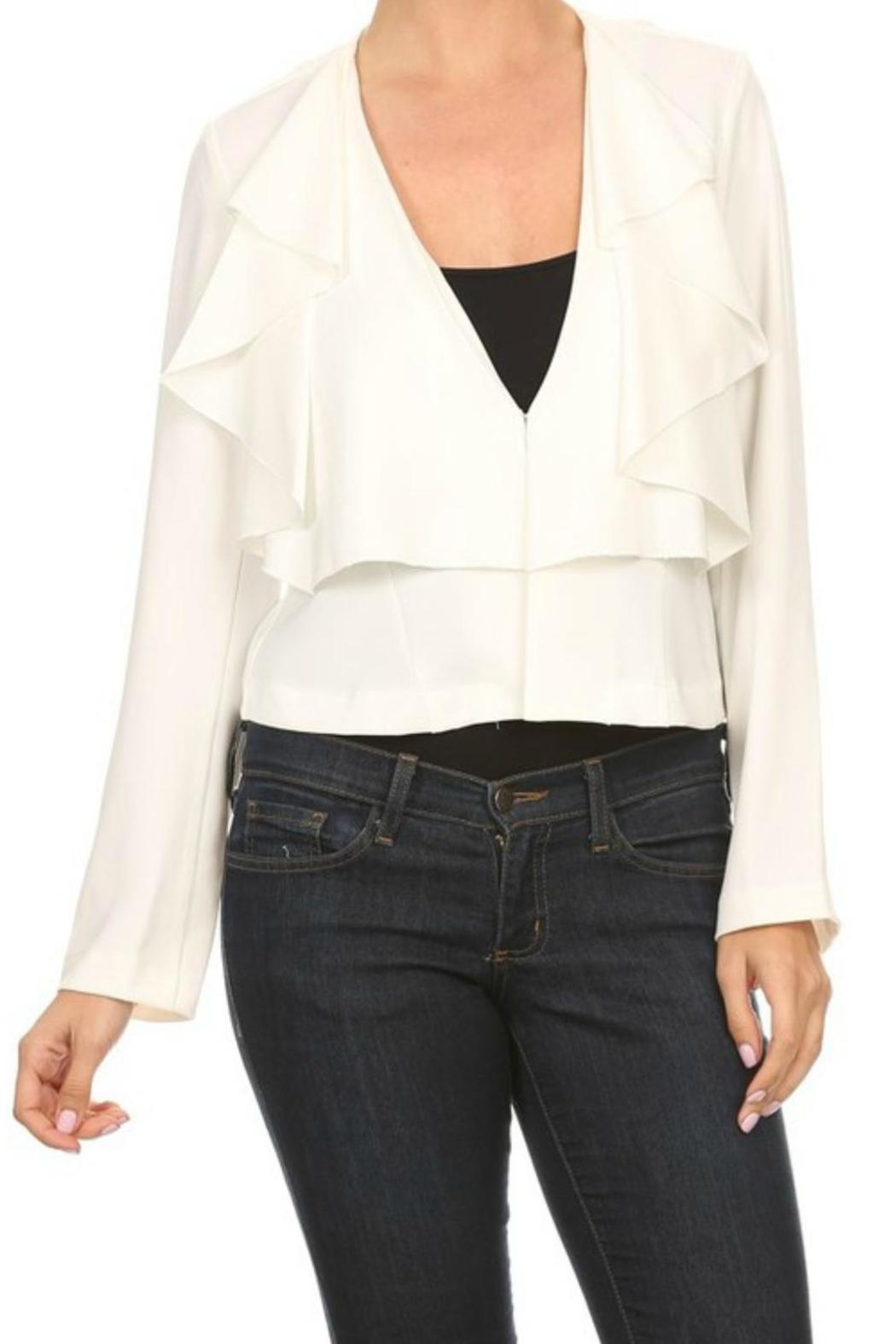 On Twelfth Ruffled Blazer Jacket - Front Cropped Image