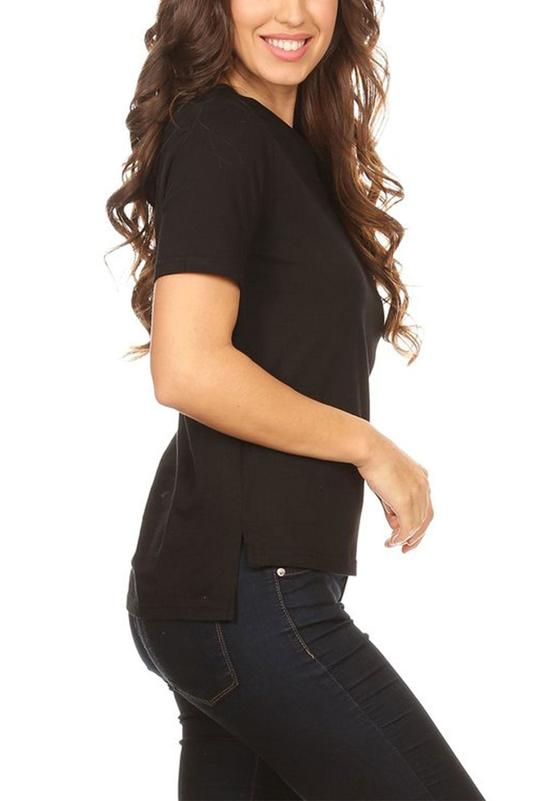 On Twelfth Side Ruffle Tee - Front Full Image