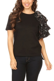On Twelfth Side Ruffle Tee - Front cropped