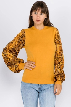 Shoptiques Product: Snake Sleeve Sweater