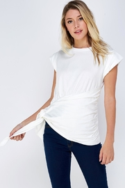 On Twelfth Wrapped Tie Tee - Front full body