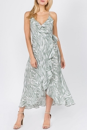 On Twelfth Zebra Wrap Dress - Product Mini Image
