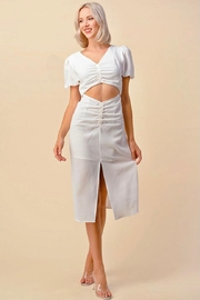 On You Buttoned Cut-Out Dress - Product Mini Image