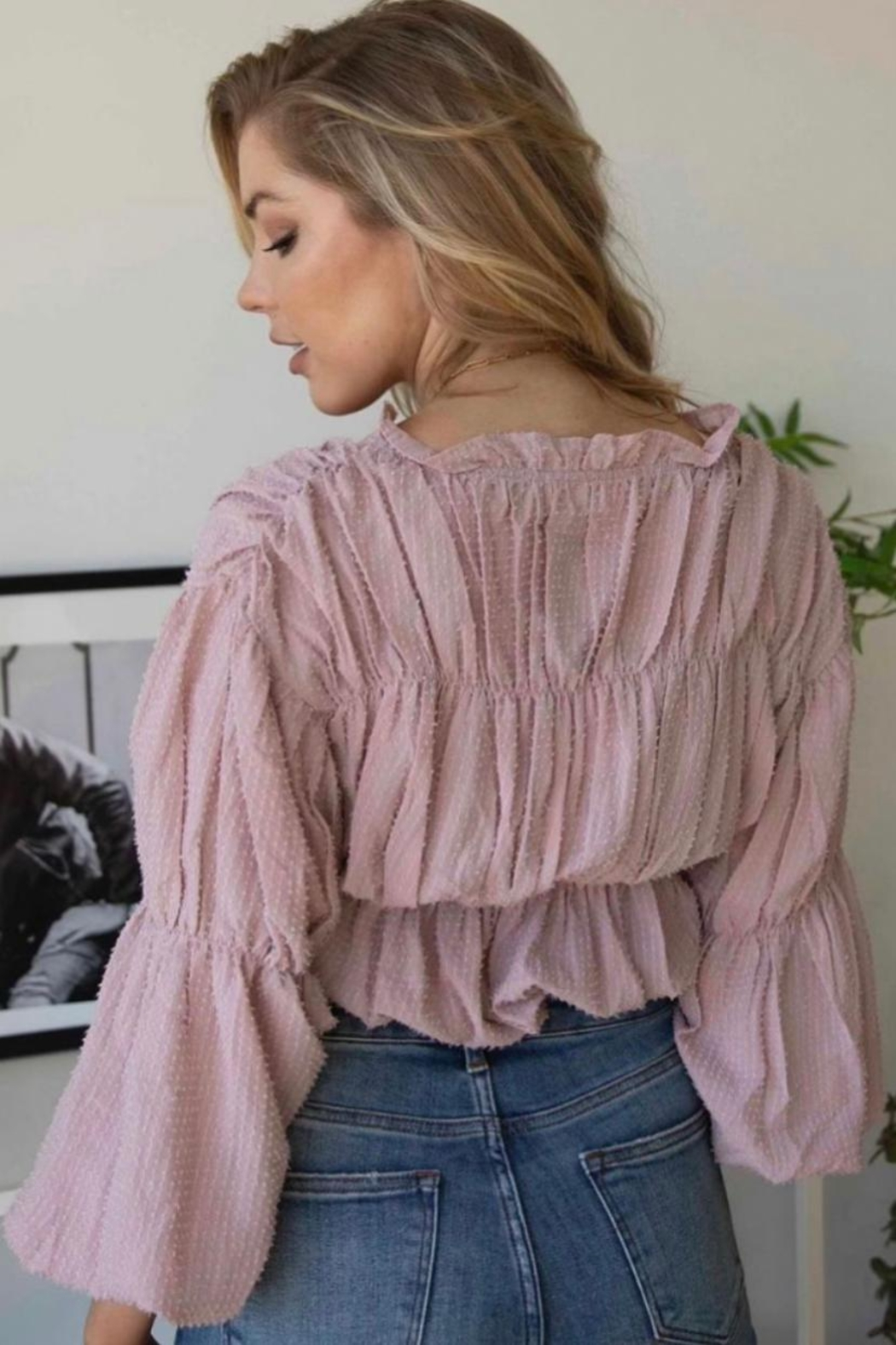 On You Flared Sleeves Top - Front Full Image