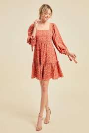 On You Floral Chain Babydoll Dress - Product Mini Image