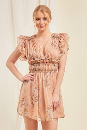 On You Peach Floral Dress - Product Mini Image