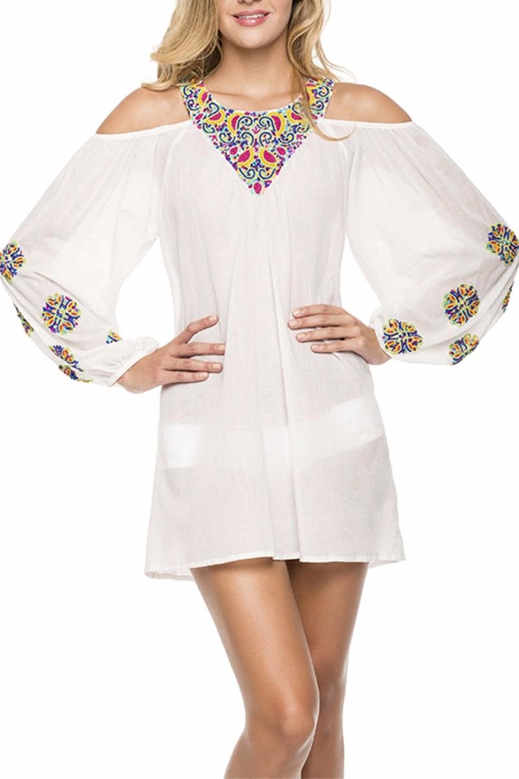 Onda de Mar Embroidered Tunic - Main Image