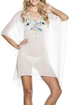 Shoptiques Product: Embroidered Georgette Poncho