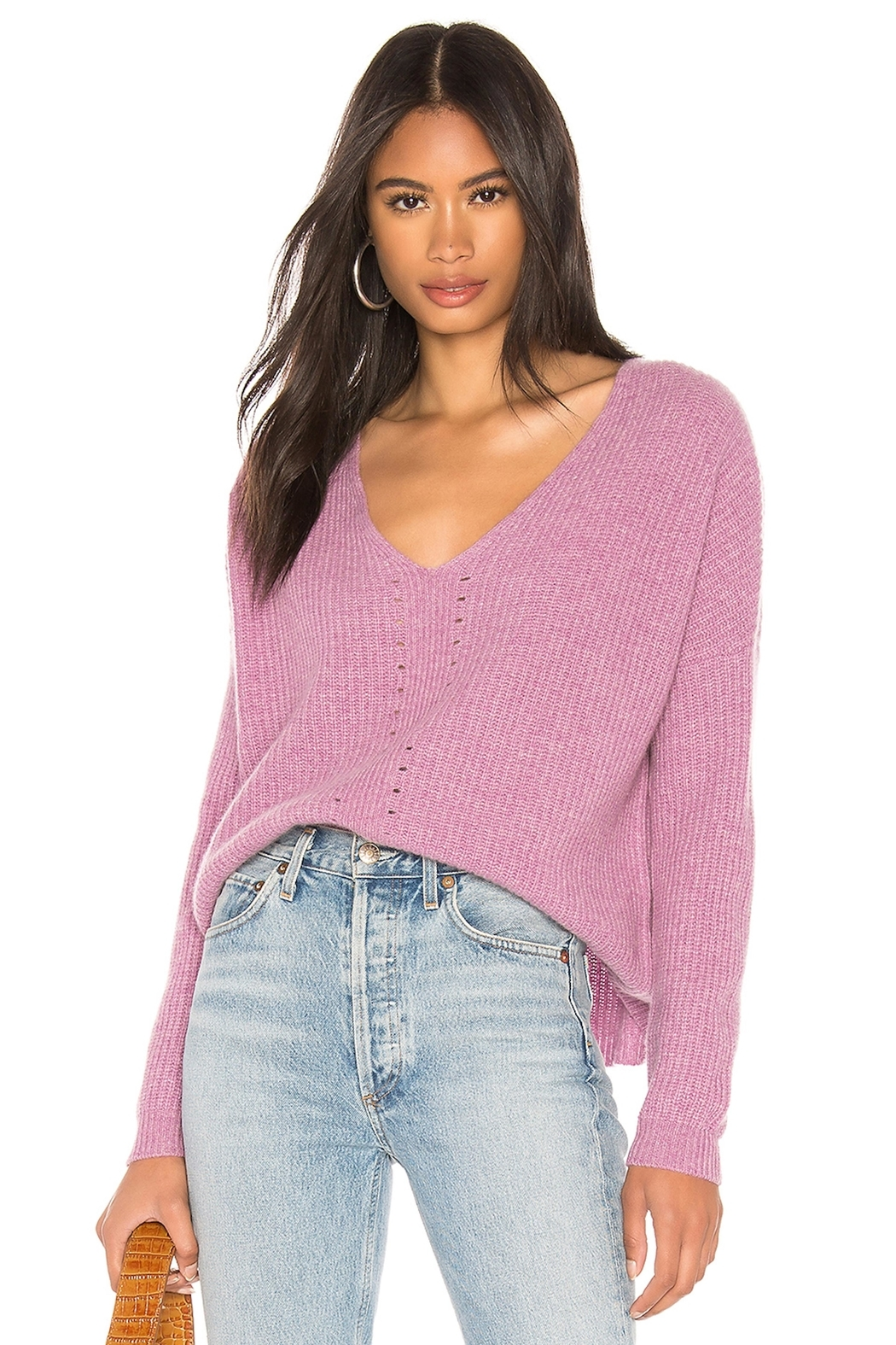 One Grey Day Paxton Pink Pullover - Main Image