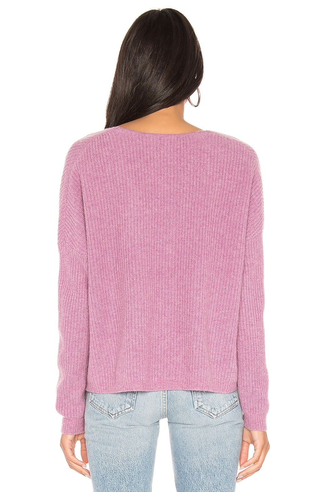 One Grey Day Paxton Pink Pullover - Side Cropped Image