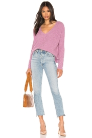 One Grey Day Paxton Pink Pullover - Front full body