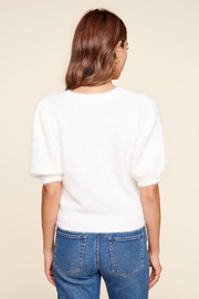 Sugarlips One More Time Eyelash Puff Sleeve Sweater - Side cropped