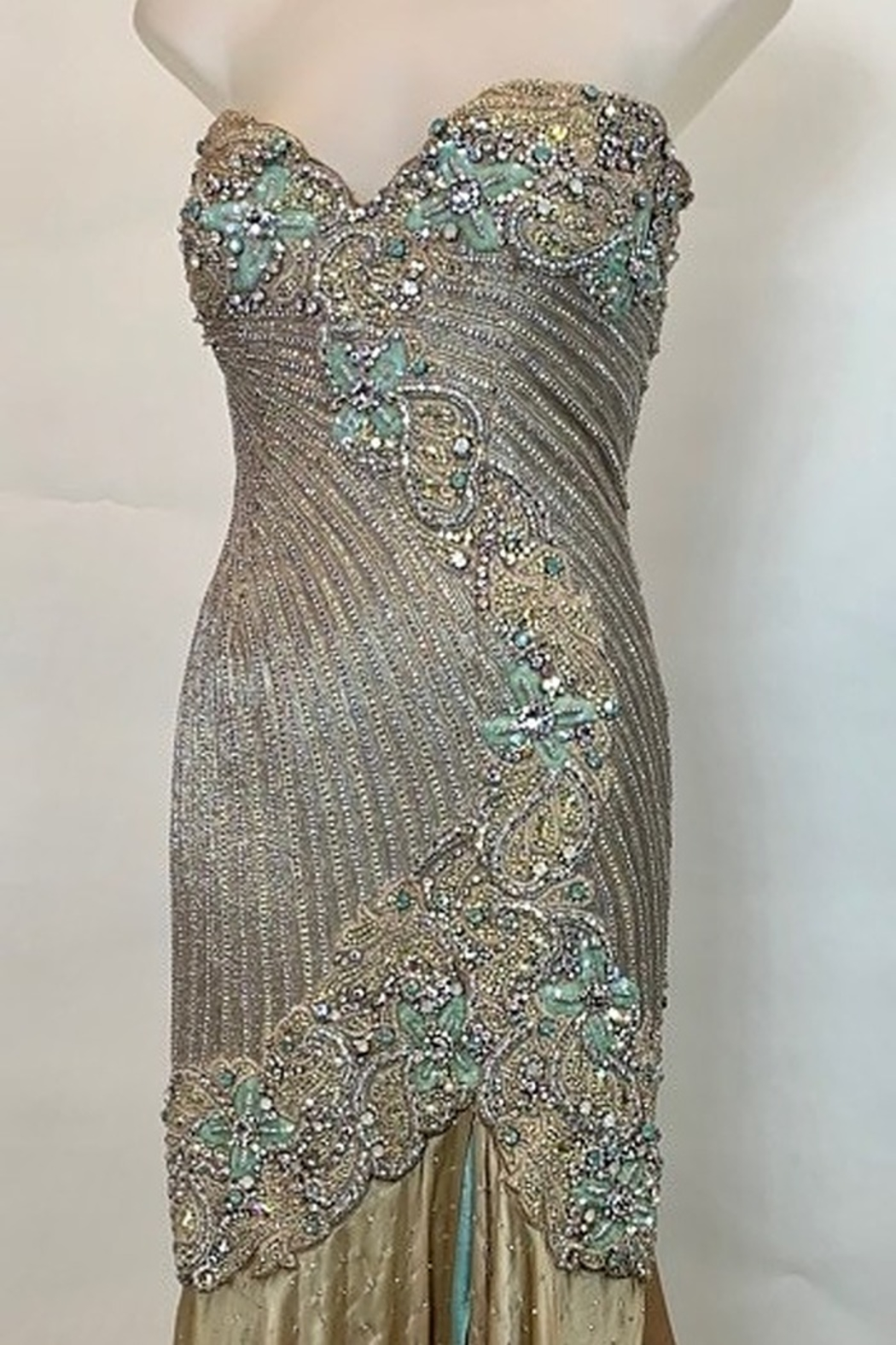 Mac Duggal ONE OF A KIND EVENING  GOWN - Side Cropped Image