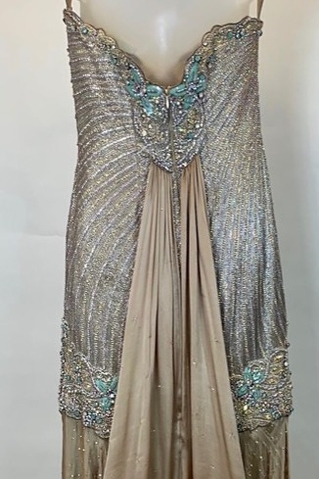 Mac Duggal ONE OF A KIND EVENING  GOWN - Back Cropped Image