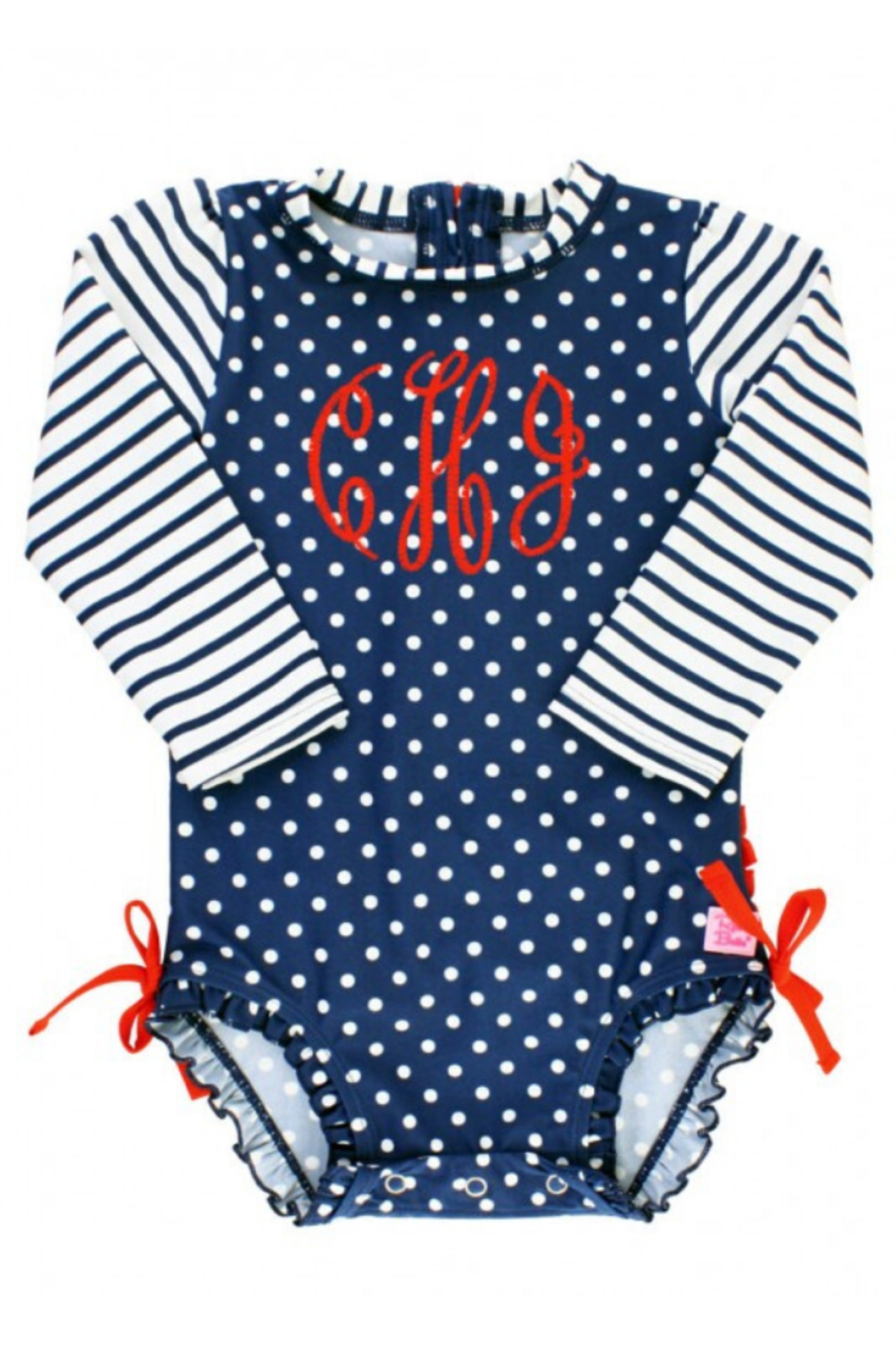 RuffleButts One Peice Rash Guard - Front Cropped Image