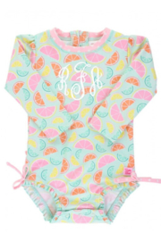 RuffleButts One Peice Rash Guard - Front cropped