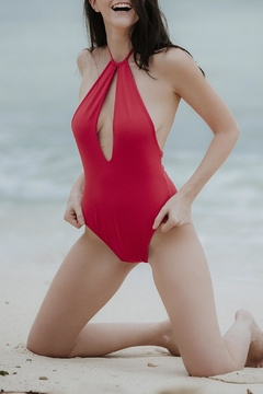 Shoptiques Product: One-Piece Red Swimsuit