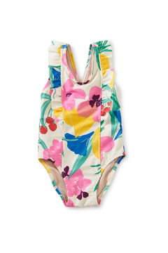 Shoptiques Product: One-Piece Ruffle Baby Swimsuit - Fruit Floral