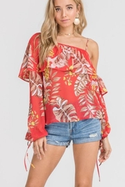 Lush One Shoulder Blouse - Front cropped