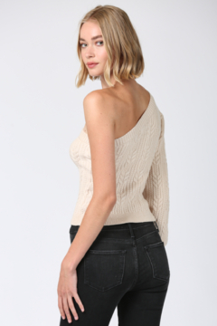 Fate One Shoulder Cable Knit Sweater - Alternate List Image