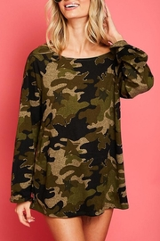 Fantastic Fawn One Shoulder Camo Top - Front cropped