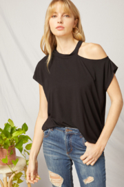 entro  One Shoulder Choker Neck Top - Product Mini Image