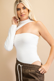 Glam One Shoulder Cut Out Bodysuit - Product Mini Image
