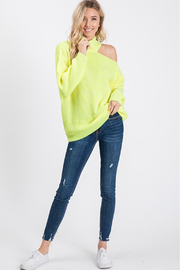 Style U One Shoulder Cut Out Sweater - Other